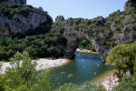 Frankreich – Ardeche: übers Wasser laufen…
