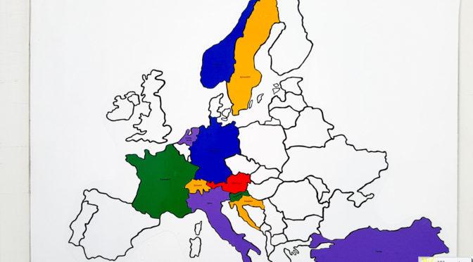 Reisekarte Europa