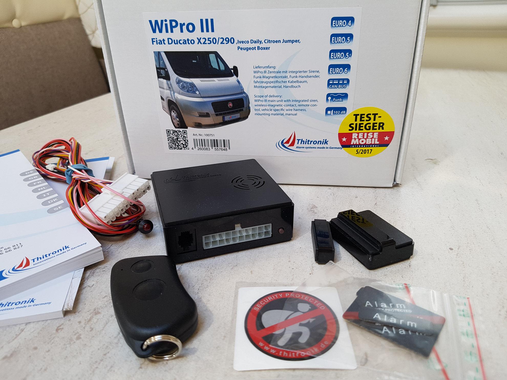 Sicherheit im Wohnmobil: Thitronik WiPro III Einbau: