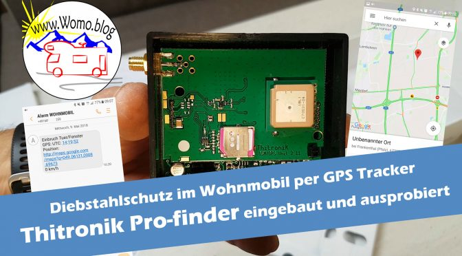 diebstahlschutz gps tracker thitronik pro finder im wohnmobil. Black Bedroom Furniture Sets. Home Design Ideas