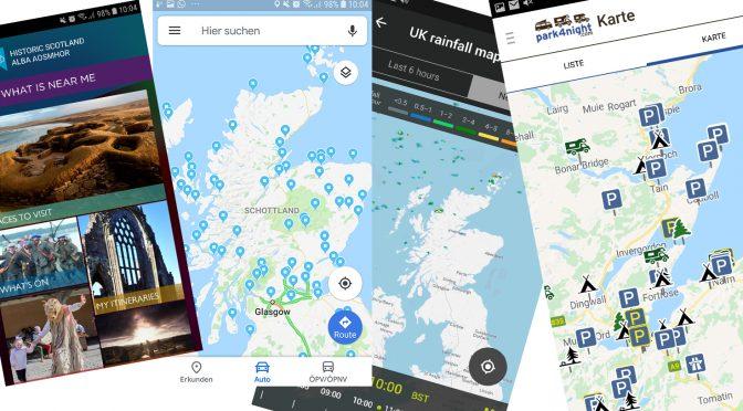 Unsere wichtigsten Apps: Mit dem Wohnmobil in Schottland – Werbung