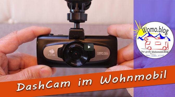 Wir fahren mit Dashcam im Wohnmobil