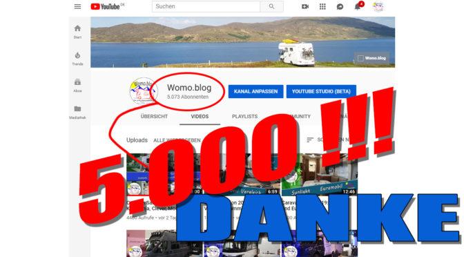YouTube: die 5.000 sind geknackt