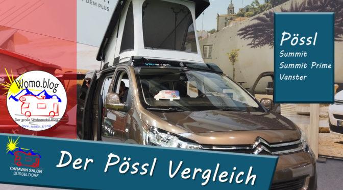 Caravan Salon 2019: Pössl – Vergleich Summit vs. Summit Prime und Vanster