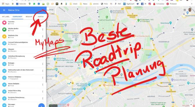 Die beste App für die Roadtrip Planung
