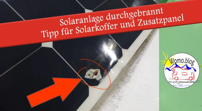 Solaranlage durch Steinschlag defekt – Tipp für bessere Anbindung Solarkoffer