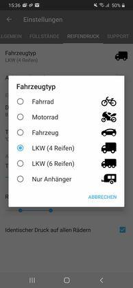 Fahrzeugtyp auswählen